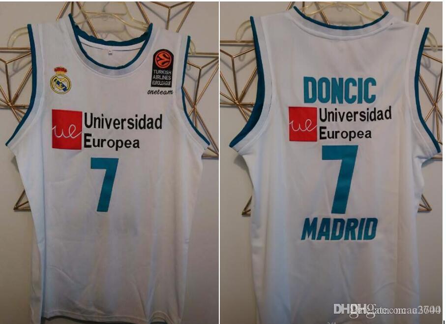 las mujeres de Hombres jóvenes Vintage Luka Doncic Universidad Europea nº 7 Luka baloncesto Jersey, tamaño S-4XL o costumbre cualquier nombre o el número del jersey