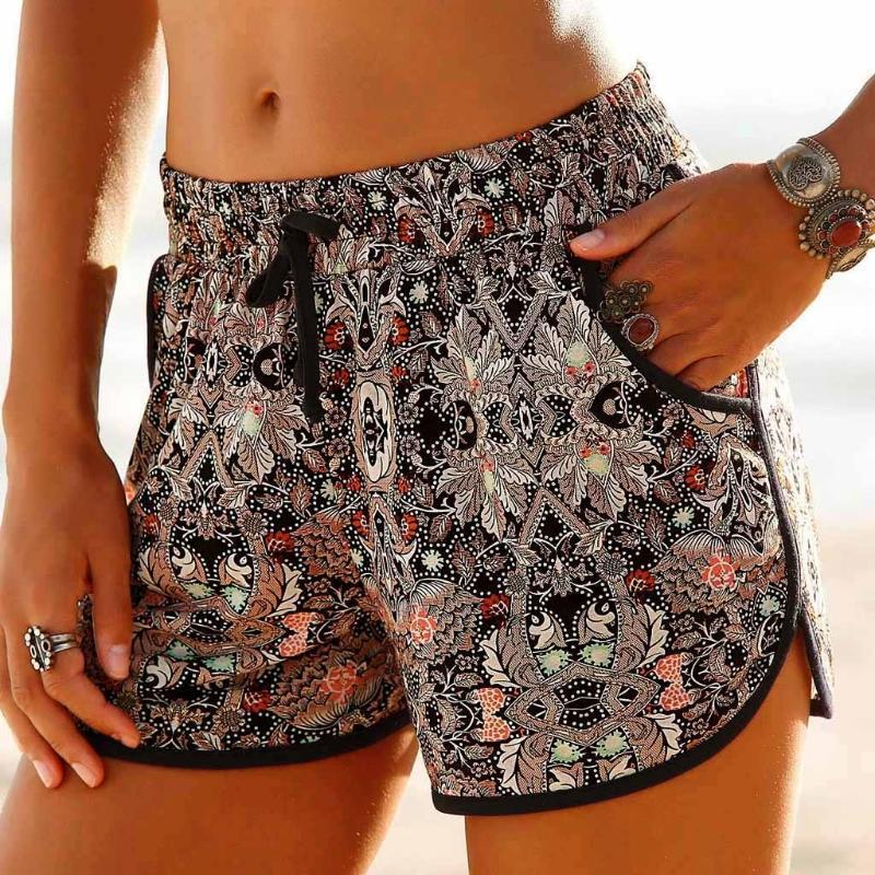 Pantalones cortos de las señoras de verano pantalones cortos estilo coreano Mujeres corto Femme de playa del verano caliente Pantalones Mujer Pantalones cortos de mujer