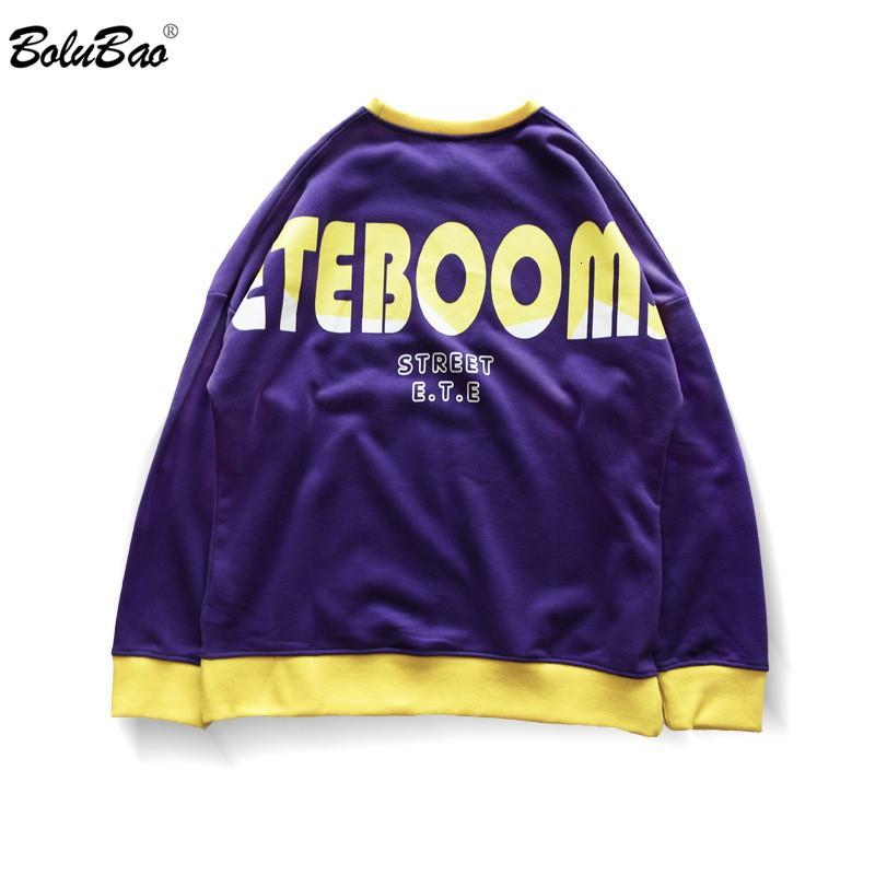 BOLUBAO Moda Marka Erkek Tişörtü Sonbahar Yeni erkek Sokak Hip Hop Baskı Hoodies Erkek Casual Vahşi Pamuk Hoodie Tops SH190905