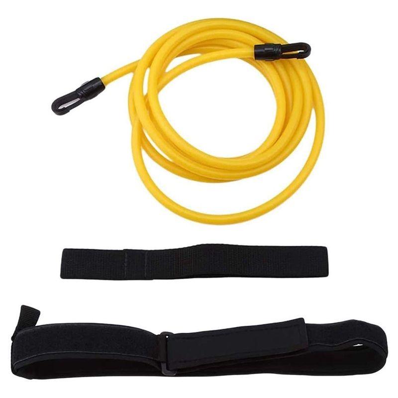 Cuerda entrenamiento de natación ajustable resistencia elástica cinturón de seguridad Piscina ejercitador de látex Tubos