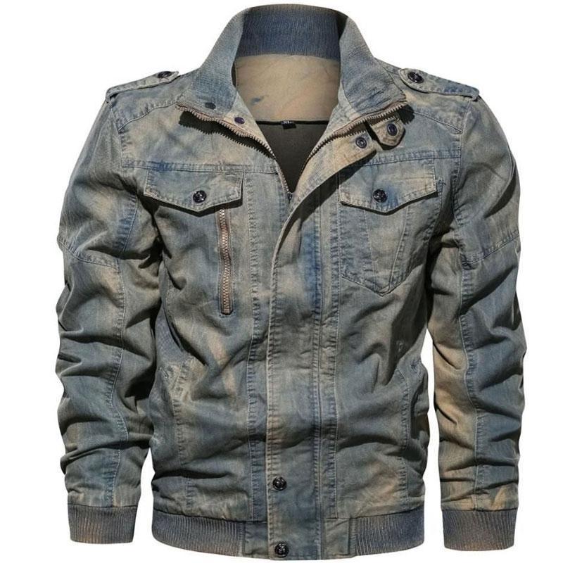 2019 New High Quality Men Distress Jeans JACKET COAT Fashion Tracksuit Cardigan Multi Men Jeans Coat Jacket Tour Size L- 6XL