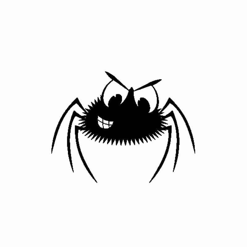 18CM * 14CM Scary Spinne Auto-Aufkleber Vinyl Aufkleber Creepy Lustige Persönlichkeit Autozubehör