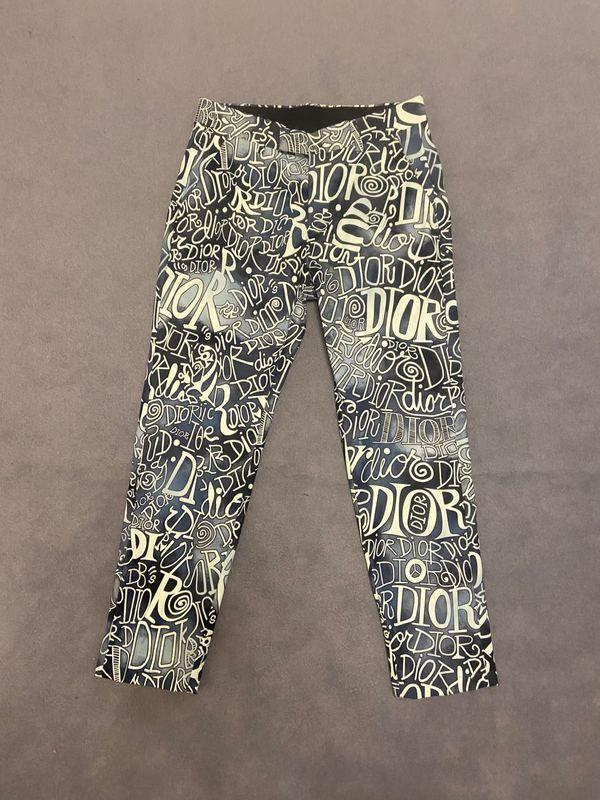 20ss мужские брюки тройник Париж буквы буквы полосатый принт Одежда костюм брюки Мужчины Женщины реальный новый молния Fly полиэстер