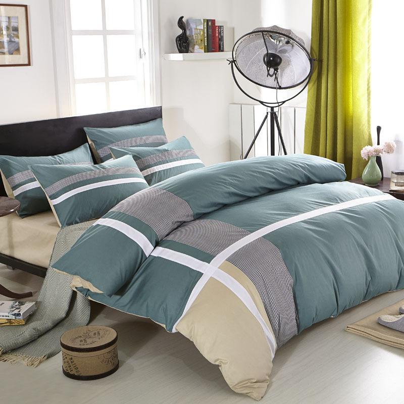 Four Seasons% 100 pamuk Aktif kabartılmış Çarşaf Nevresim 4 parçalı Seti Moda Casual Basit Stil Yatak
