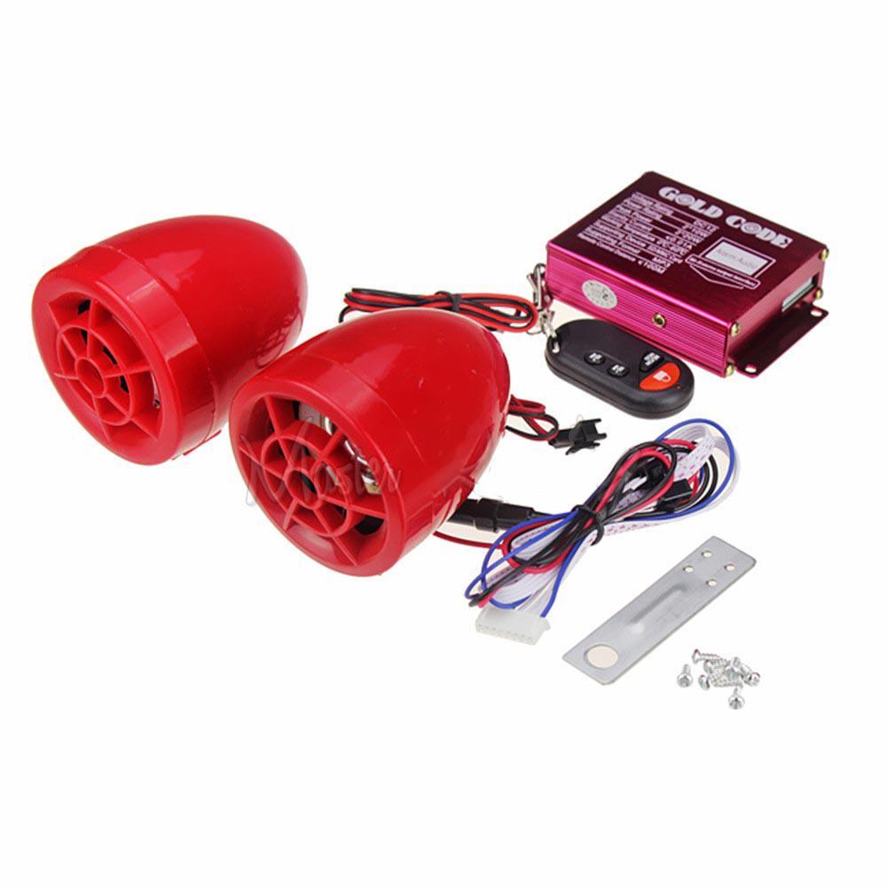 Proteção de segurança do sistema para Stereo Scooter Motor Música Speaker MP3 Player para motos motociclo remoto Speakers FM Áudio