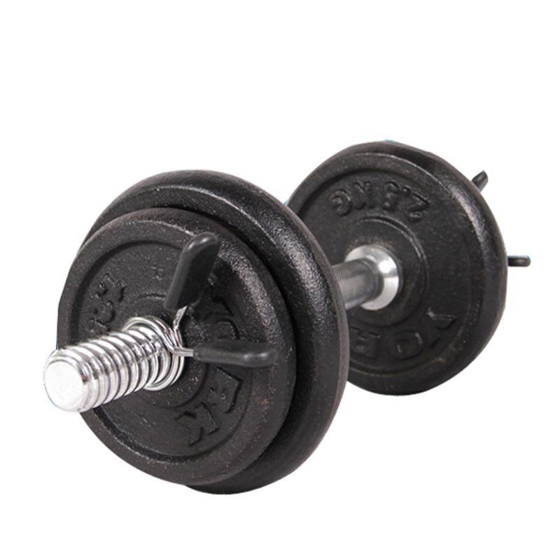 ISHOWTIENDA 2PCS 25MM الحديد الدمبل الأوزان لياقة بدنية رياضة الوزن بار الدمبل قفل المشبك الربيع كليب الياقة # Y30