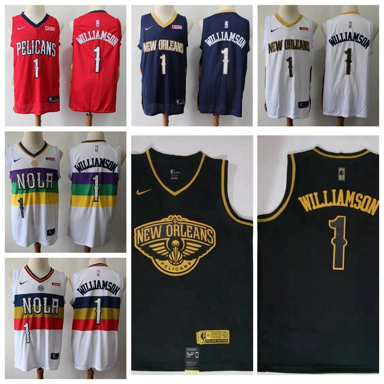 2019 2020 Basketball Jerseys The Game Mens Neworleanspelicans Home Zion Williamson 1 City Zion 1 Williamson Edition Stitchednba Embroidery Shirts From