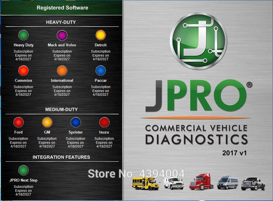 2018 High Quality JPRO DLA+2 0 Vehicle Interface Diesel Newest 2017  Software Heavy Duty Truck Scanner Fleet Diagnostic Tool Diagnostic Tool  Download