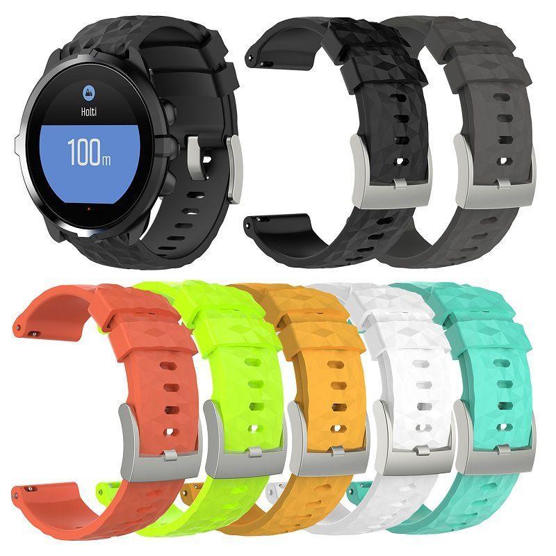Remplacement de silicone montre bracelet bracelet bracelet pour Suunto 9 D5 D5I Suunto Spartan Sport poignet HR Baro Traverse Rubber Band