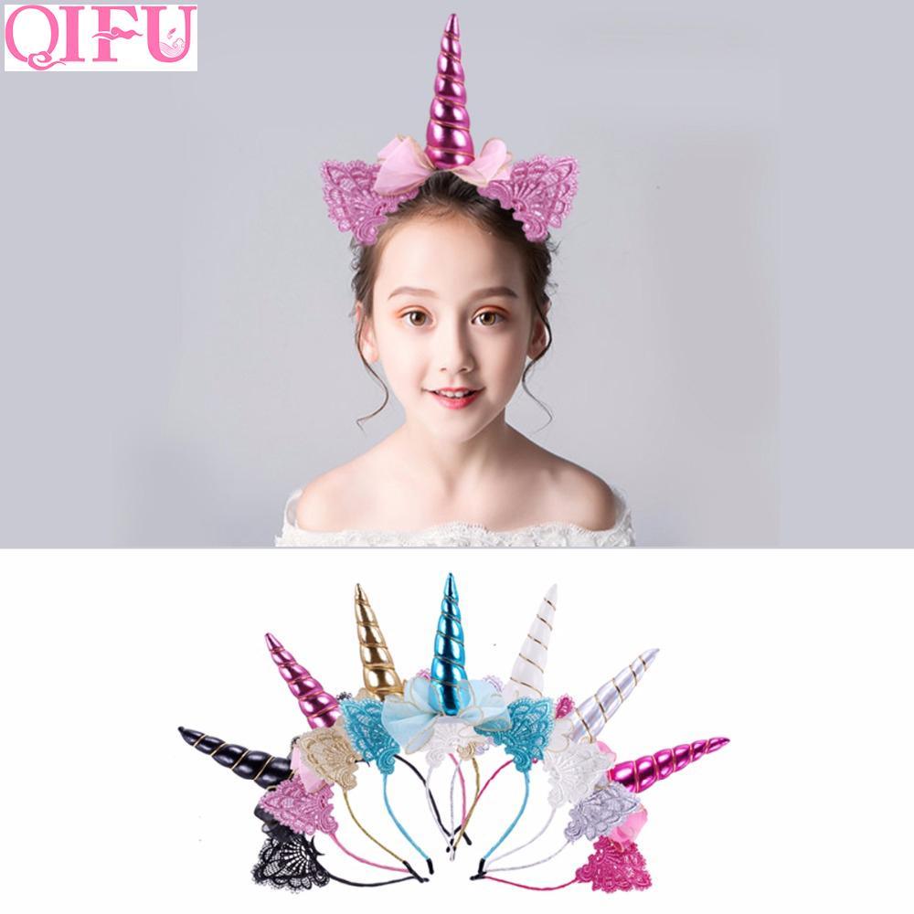QIFU Unicorn Party Украшения Unicorn День Рождения Поставки Unicornio Party Оголовье Набор Девушка Деку Украшения Baby Shower