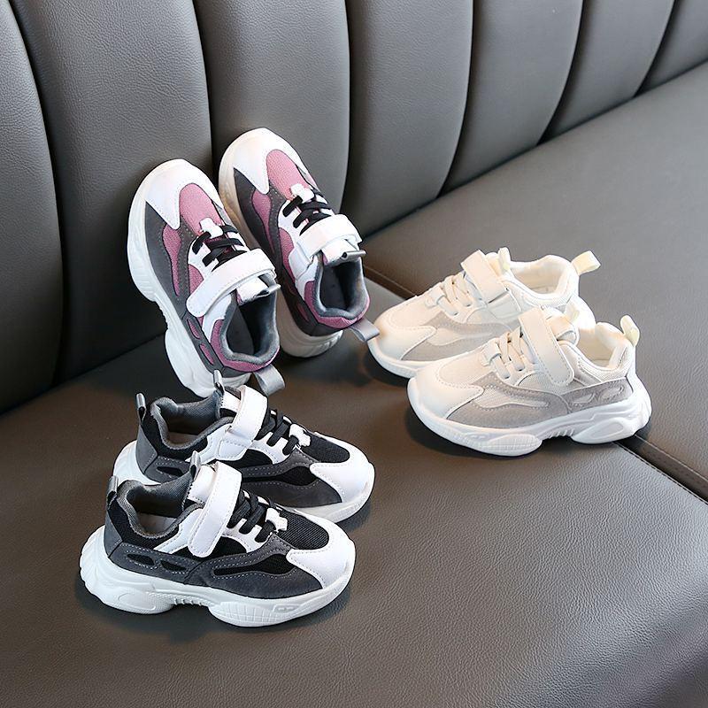Automne Baskets enfants respirant tissu à mailles garçons Chaussures papa Fille Chaussures bébé