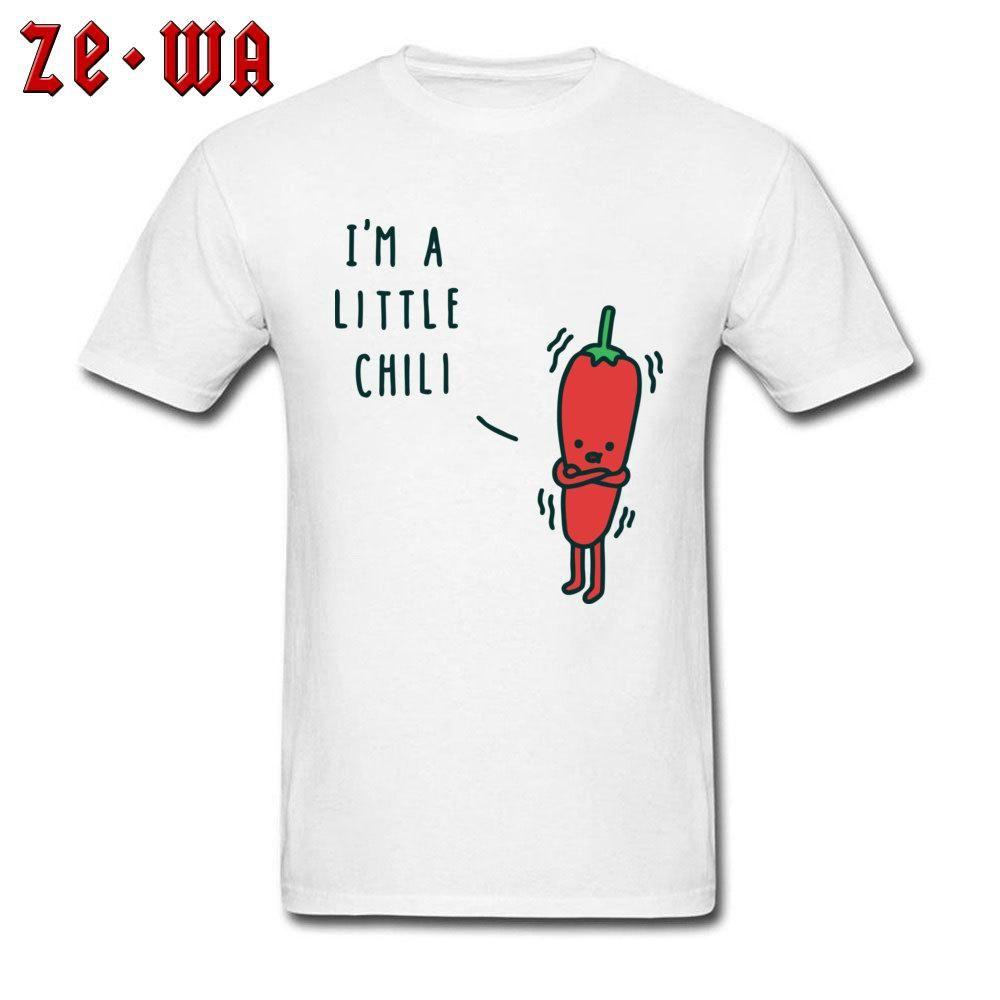 Refroidir Chili Homme T-shirt normal TShirt Hip Hop Hommes T-shirts à manches courtes T-shirt d'été drôles vêtements en coton O Neck Drop Shipping