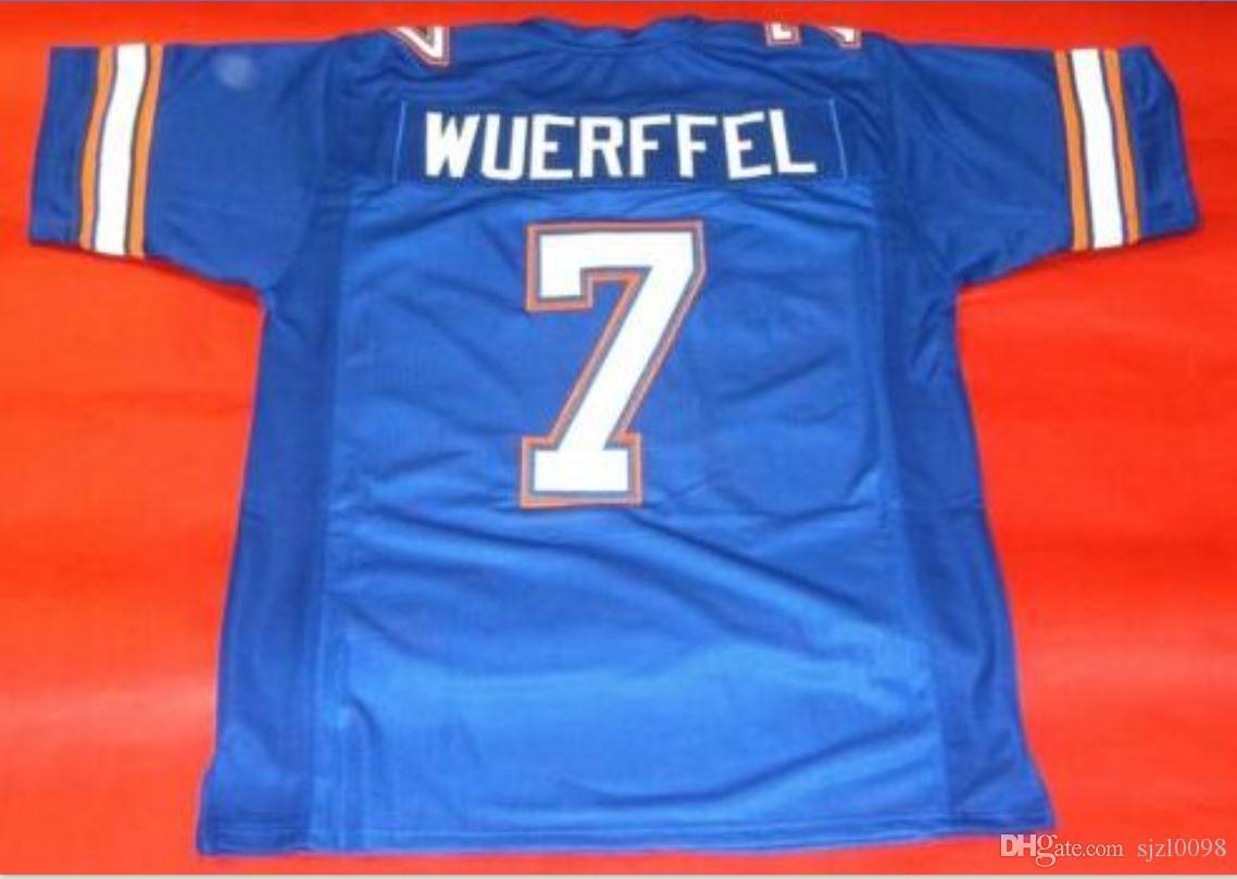 Özel Erkekler Gençlik kadınlar Vintage 7. DANNY WUERFFEL ÖZEL FLORIDA GATORS Futbol Jersey boyutu s-5XL veya özel herhangi bir ad veya numara forması