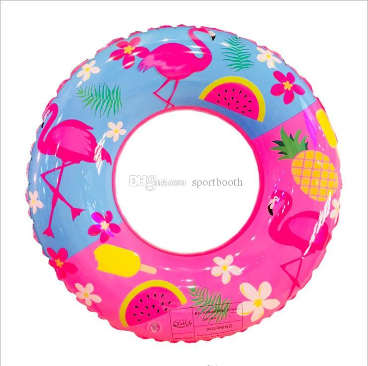 60 70 80 90cm Swimmming Pool Child Swimming Ring Watermelon Pool Float for Kids Inflatable Flamingo Ring for Children Inflatable Circle