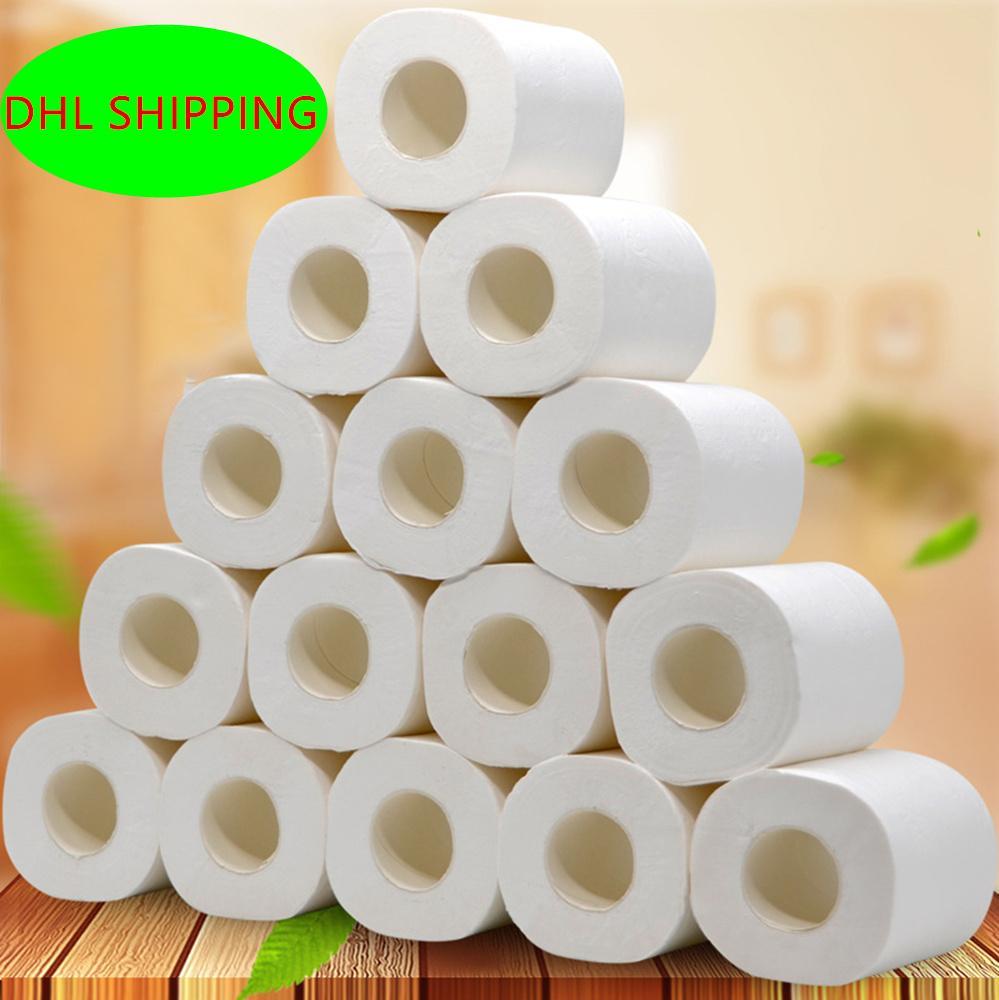 10 adet 4 katmanlar beyaz Tuvalet doku temiz rulo kağıt Hollow yedek Temizleme Tuvalet doku yumuşak tuvalet kağıdı grip önlemek
