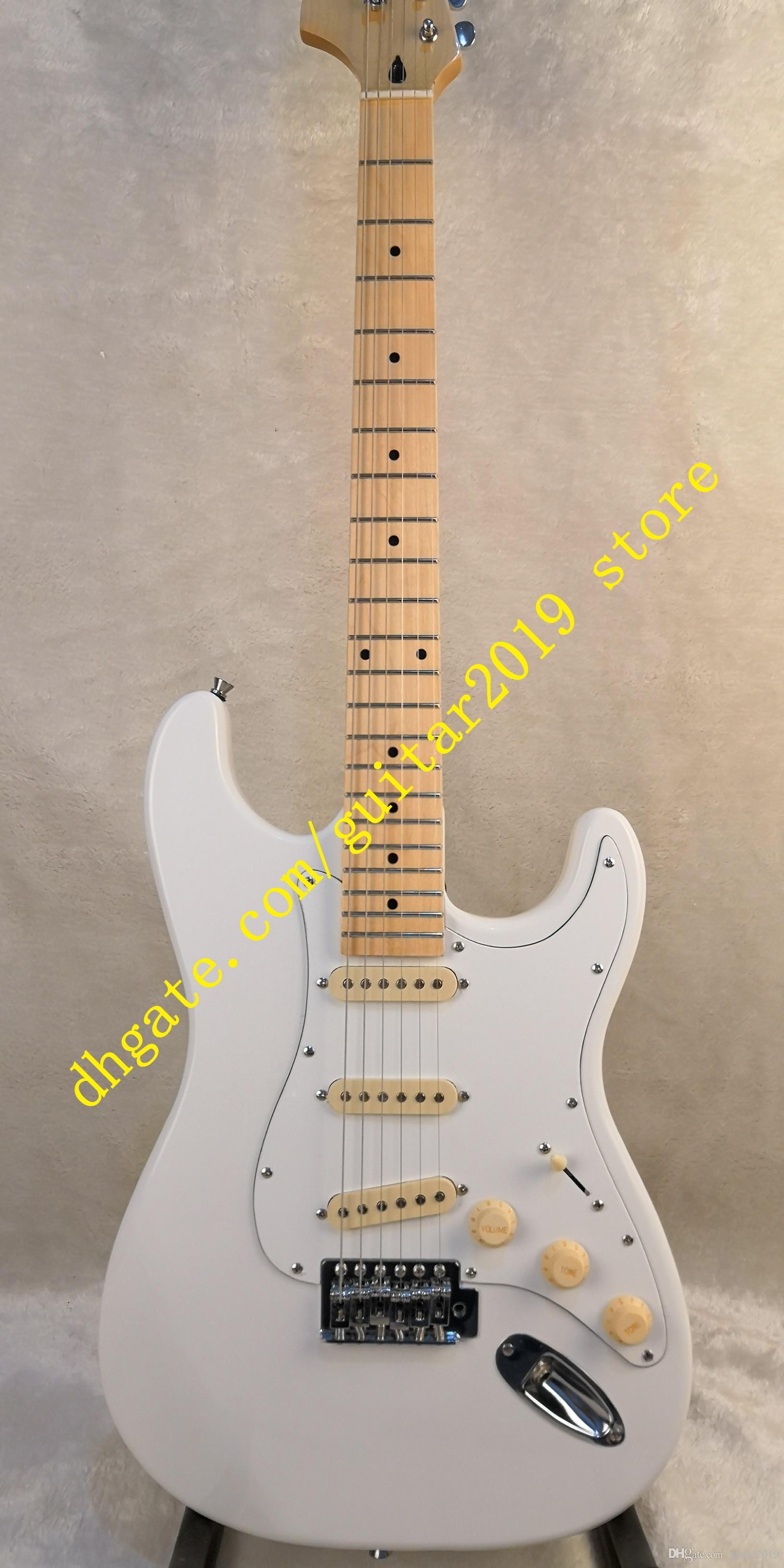 Série Deluxe fingerboard Maple e corpo de basswood com maple pescoço cabeça grande em reversa Guitarra Elétrica frete grátis