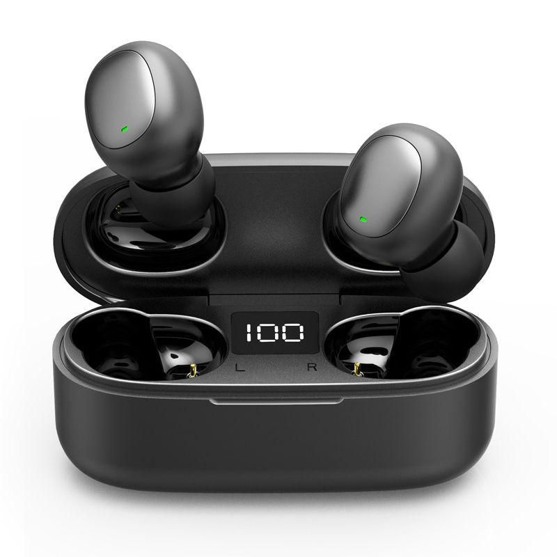 سماعات بلوتوث 5.0 لاسلكية الرياضة للماء سماعة LED الرقمية السلطة سماعات الأذن ستيريو العرض HD للهواتف النقالة مع الشحن مربع