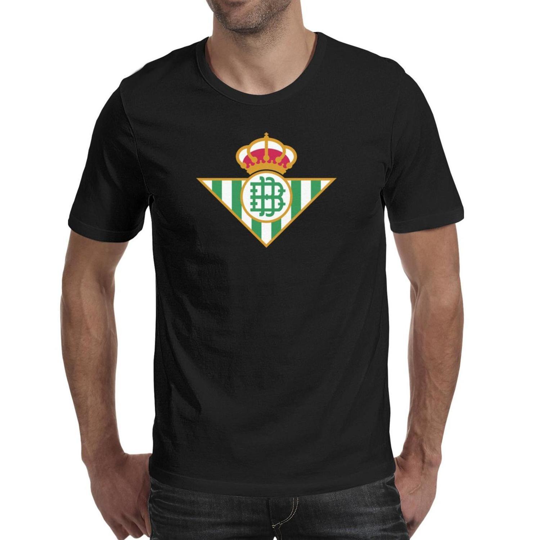 Mode Hommes Real Betis Los Verdiblancos RBB T-shirts noir Conception graphique Faire un blanc tournesol bande texte Chemises Leopard Pure White