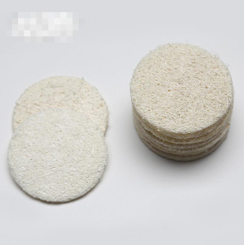 Природный Loofah лицо колодки Loofah диск для макияжа Удалить Exfoliating Face Loofah Pad Малого размер Luffa люфа LX5915