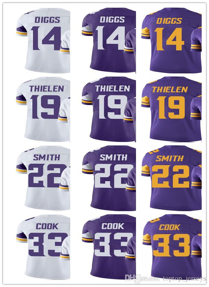 new concept fa658 9d586 2019 Minnesota Men Women Youth Vikings Jersey #33 Dalvin Cook 14 Stefon  Diggs 22 Harrison Smith 19 Adam Thielen Vapor Limited Jerseys From ...