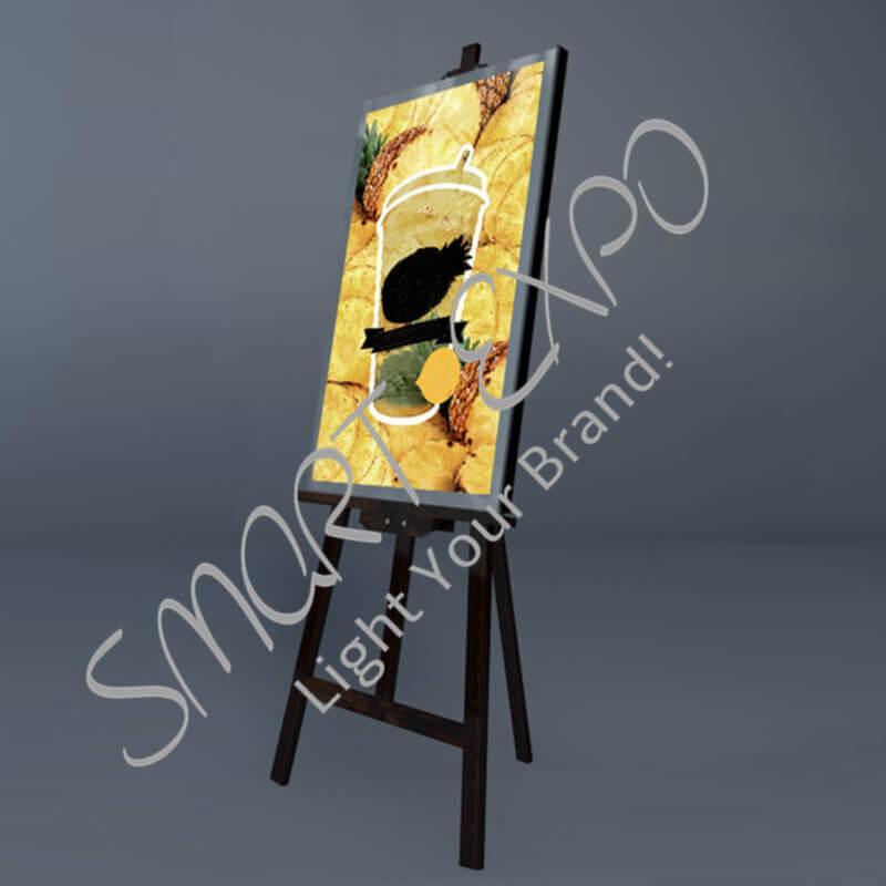 50 * 70cm ajustable tienda Caja de luz cartel de mostrar caja de luz con madera sólida del ajuste de la estructura del marco Firma Embalaje de Madera Caja