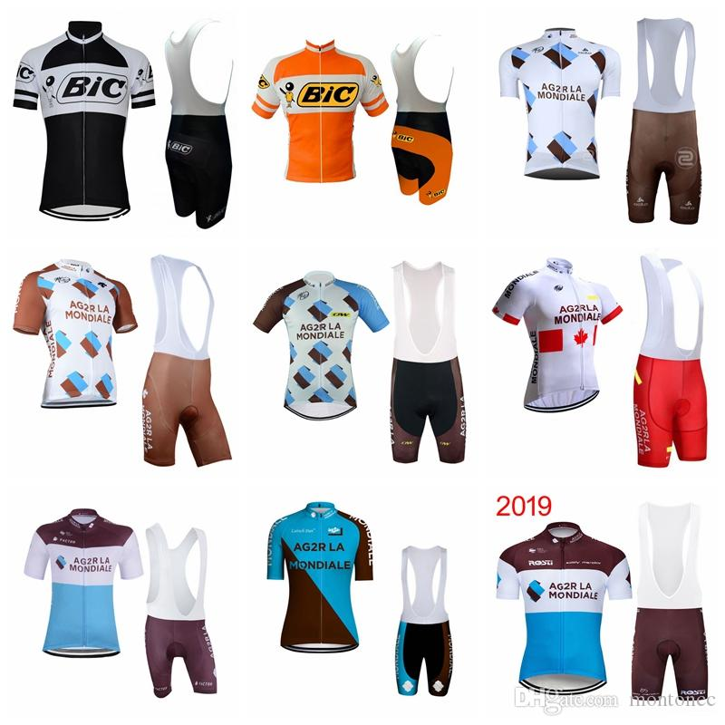 AG2R BIC summer mens short sleeve cycling jersey bike wear Clothes bib MTB uniform cycling clothing bicycle Culotte suit52220