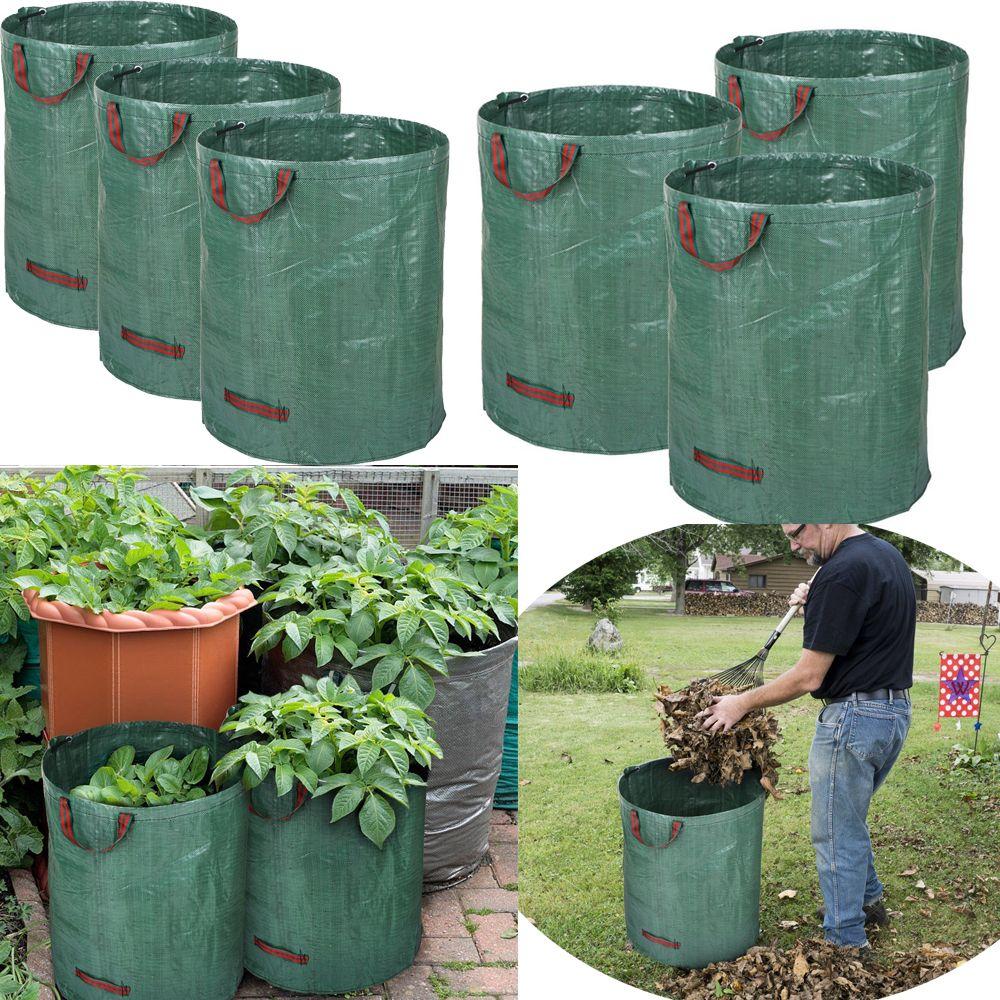 3pcs / set 72Gallons grandes plantes de jardin Fleurs sacs de culture Pouch réutilisables Seedling plantation de légumes Growing sac Pot Contenance Sac Planteur