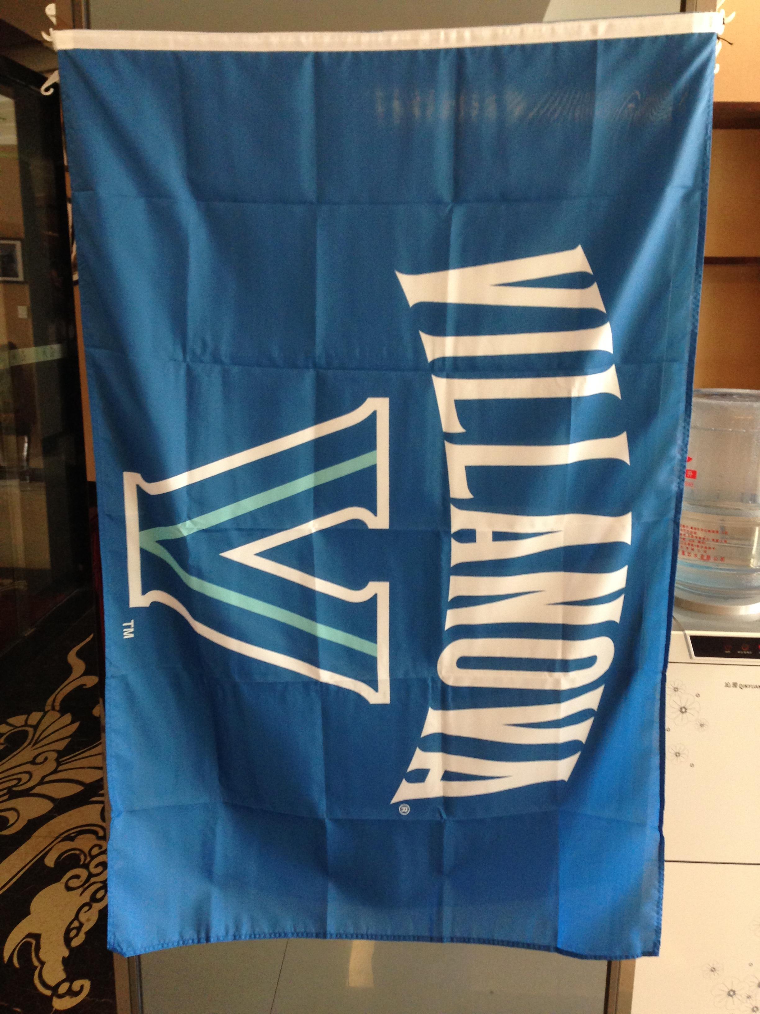 Pirinç Grometler Ücretsiz Kargo ile Villanova NCAA Bayrak 3x5FT 150x90cm 100D Polyester Baskı Kapalı Açık Asma Bayrağı