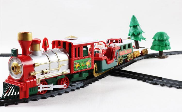 Christmas electric rail car small train toy, children s electric