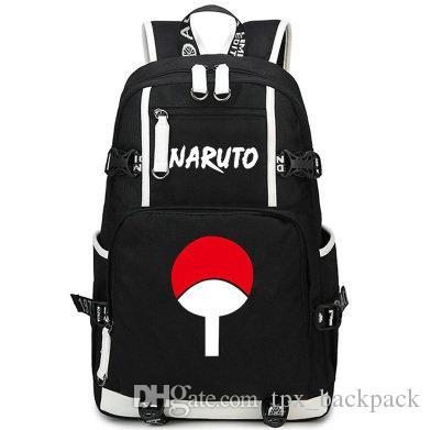 Sac à dos Ninja sac à dos emblème Naruto Uchiha Joli sac d'école de bande dessinée Sac à dos Anime Sac à dos pour ordinateur Sac à dos pour sport Sac à dos en plein air