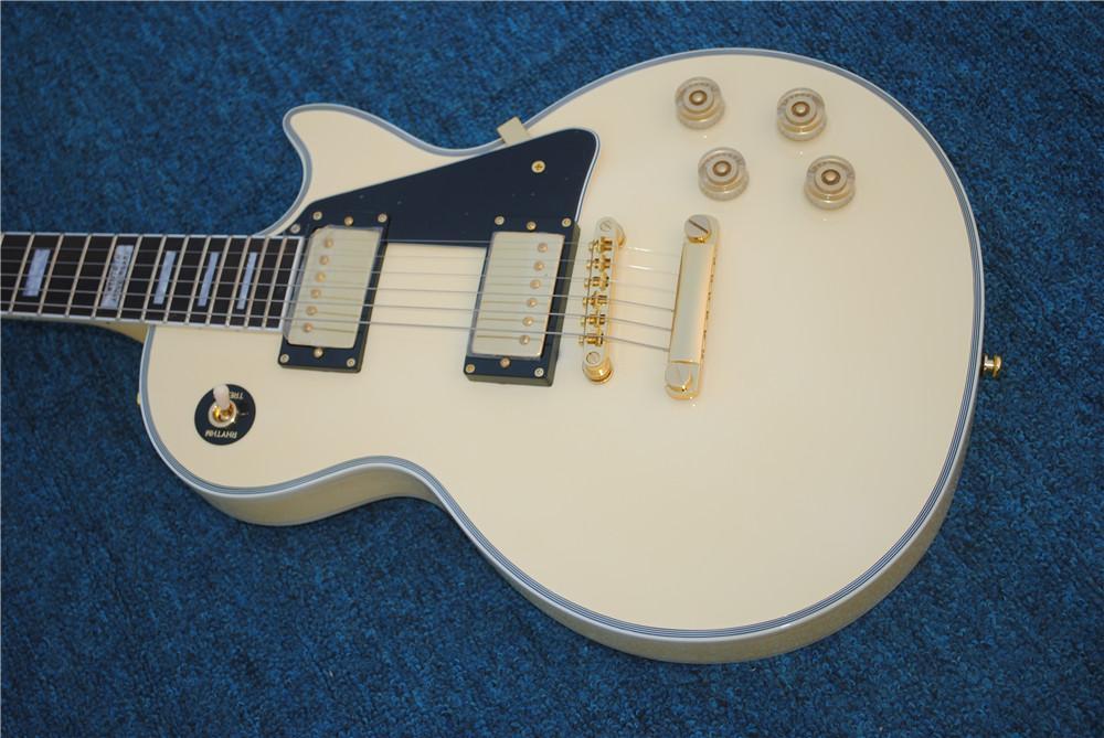 6-سلسلة الغيتار الكهربائي مع الكريم الأصفر اللون، الأجهزة الذهبية، الاصبع الوردي الأصابع، يمكن تخصيصها