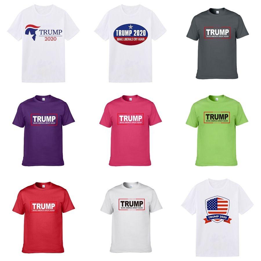 Europa Parigi New Fashion Designer Summer Street Trump magliette di alta qualità maniche corte Tshits Per Mens Trump magliette per Mens Pullover Te