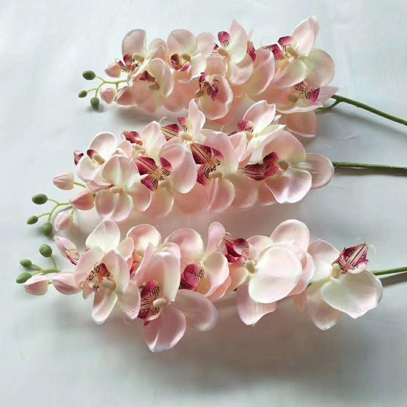 2020 Hot Artificial Butterfly Orchid Flower Silk Phalaenopsis