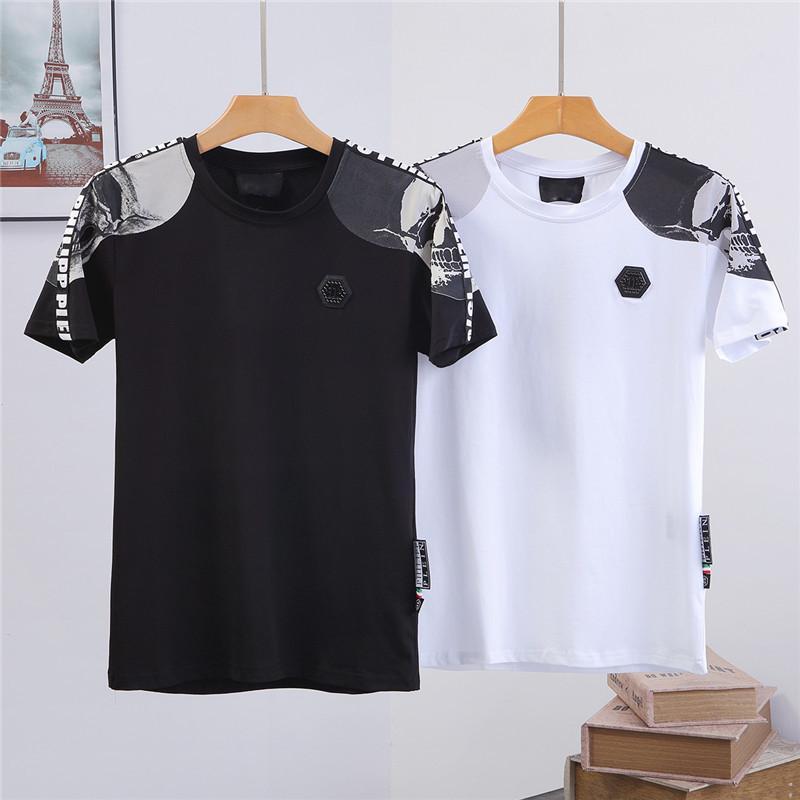 Baskı Gevşek Günlük Stil Boyutu ile 2020 Yeni sokak Erkek Tişörtü Lüks Erkek Kısa Kollu Yeni Marka Gömlek