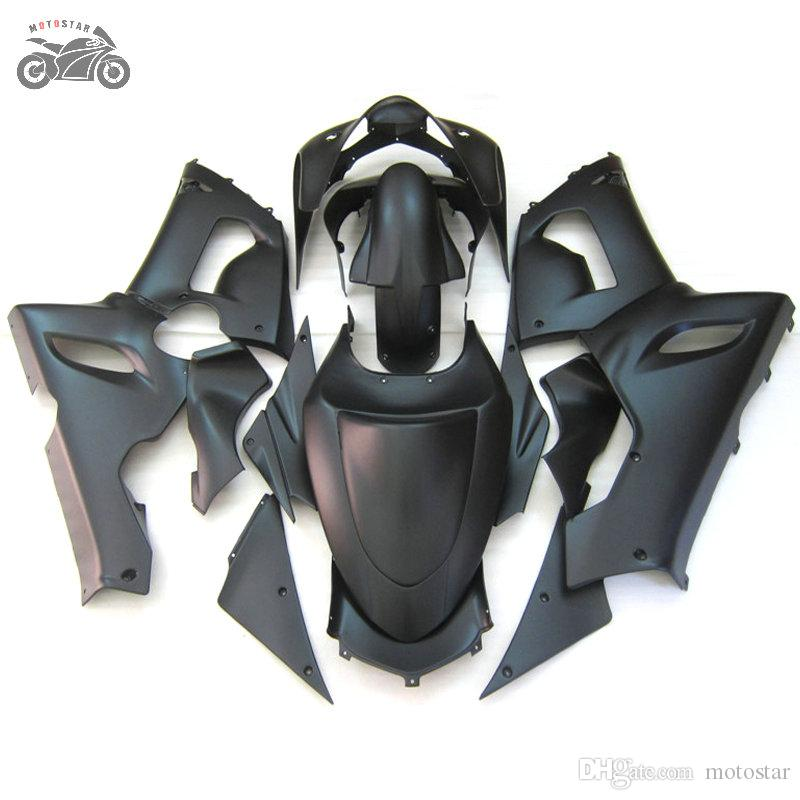 Kit de carénages personnalisés gratuits pour Kawasaki Ninja ZX6R 636 05 06 ZX-6R 2005 2006 Kits de carénage de motocyclettes noires noires ZX 6R