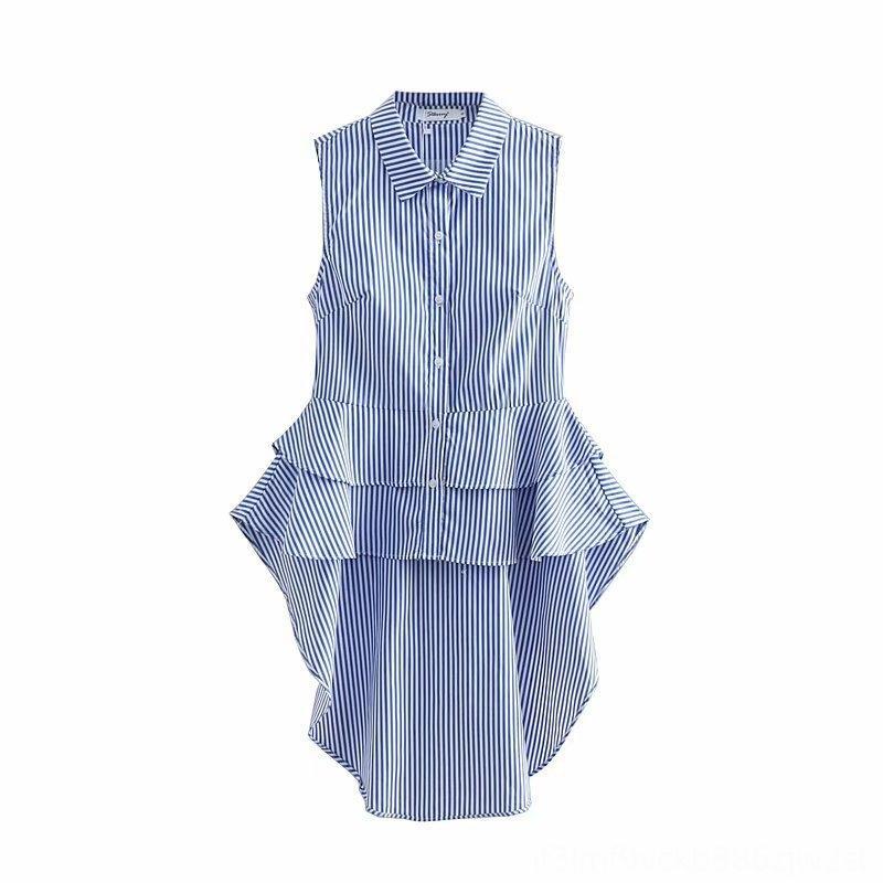 2019 새로운 스타일 WOMENS 남성 자켓 코트 남성 의류 드레스 봄 의류 불규칙한는 중간 - 길이 줄무늬 조끼 수리 제비 꼬리 탑