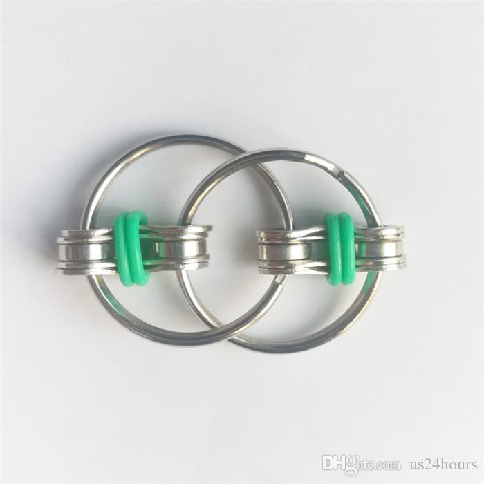 1 stücke Metall Klassische Schlüsselanhänger Hand Zappeln Spinner 3 cm Spincube Anti-Press Schlüsselanhänger Finger Spinner Cube Fabrik Großhandel
