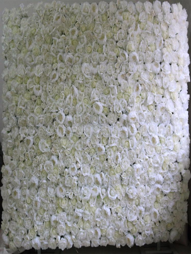 10pcs / seda artificial muchos subieron de peonía decoración telón de fondo boda corredor de la flor de pared de la flor 3D