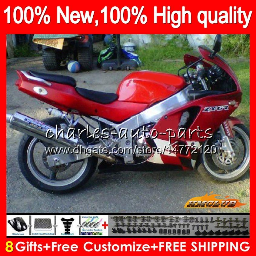 Body For KAWASAKI ZX 636 600CC ZX-636 ZX6R 94 95 96 97 50HC.91 red glossy ZX636 ZX-6R ZX600 ZX 6 R 6R 1994 1995 1996 1997 Full Fairing kit