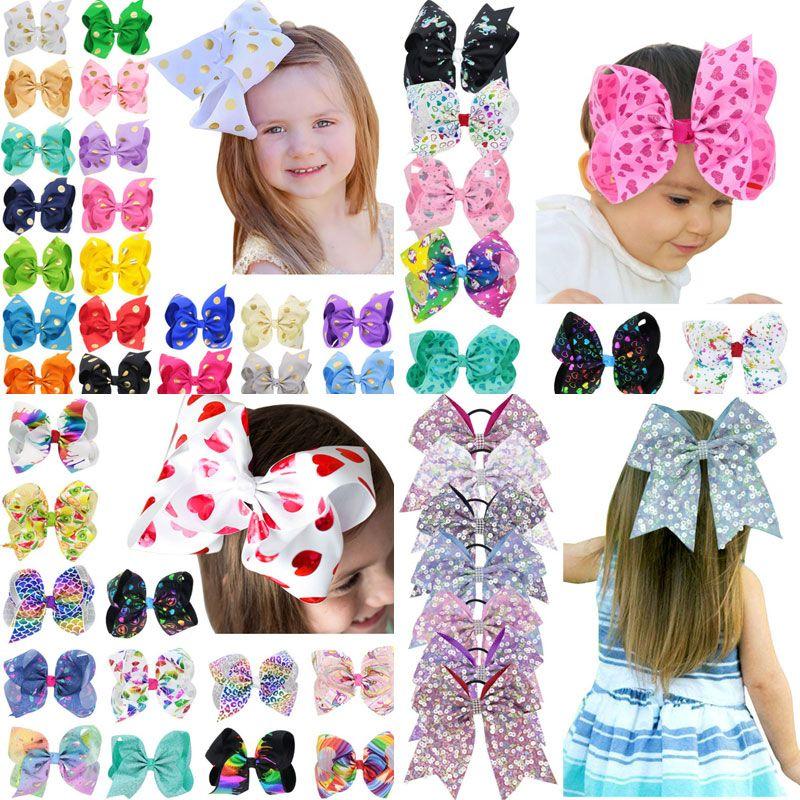 6 estilos de pelo clips accesorios para el cabello de la princesa Niñas Barrettes arcos hecho a mano de las horquillas de los niños del tocado de envío