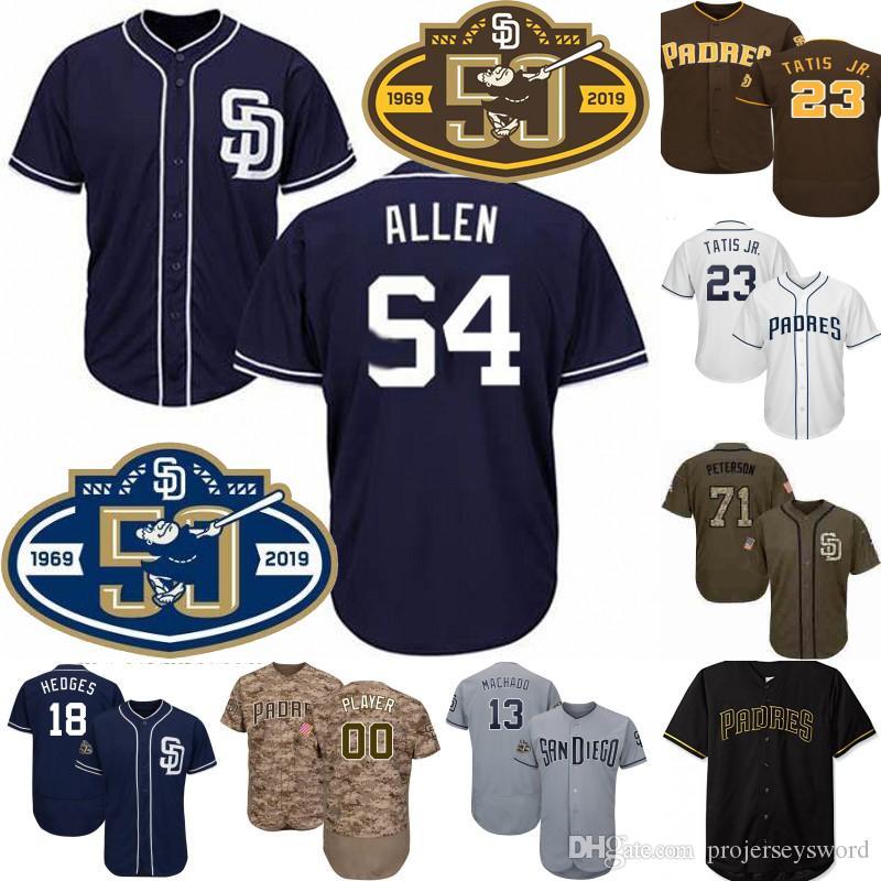 54 Logan Allen Jersey 50th Anniversary San Diego Fernando Tatis Jr. Mnny Machado Wil Myers Eric Hosmer Manuel Margot Baseball Jersey