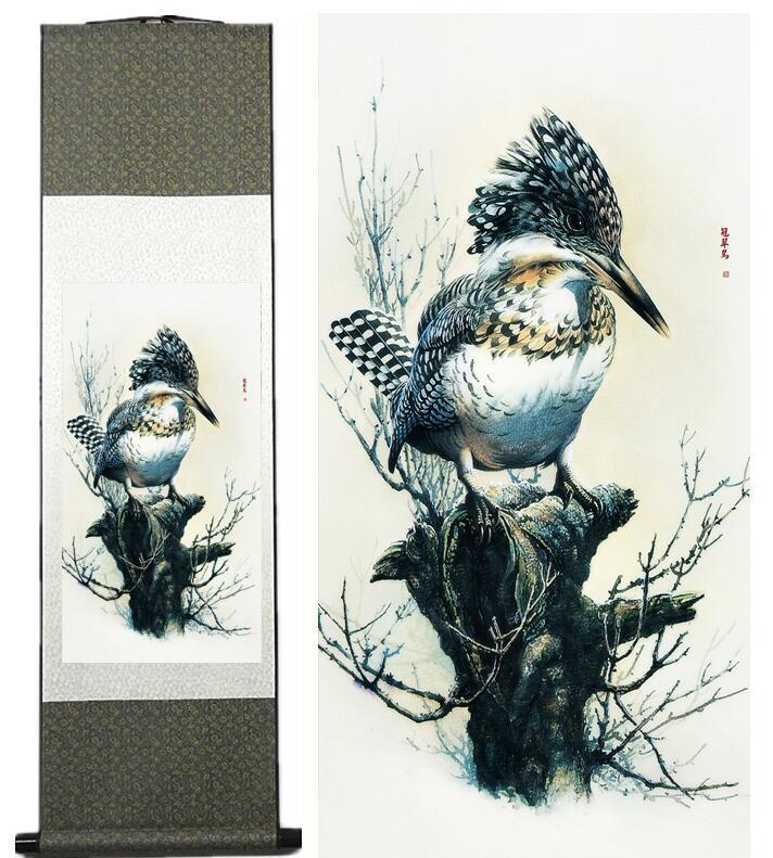 Birds Painting Chinese art Home Office Decoration Chinese Scroll Painting Birds Painting