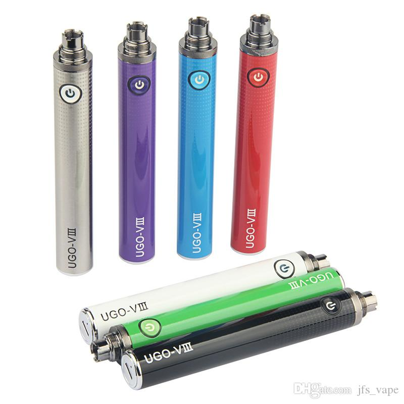 1PCS E pipe vape UGO VIII Battery Kit 1300mAh Variable Voltage Batteries Vape Pen Battery EGO UGO-VIII 510 Thread For Thick Oil Cartridges