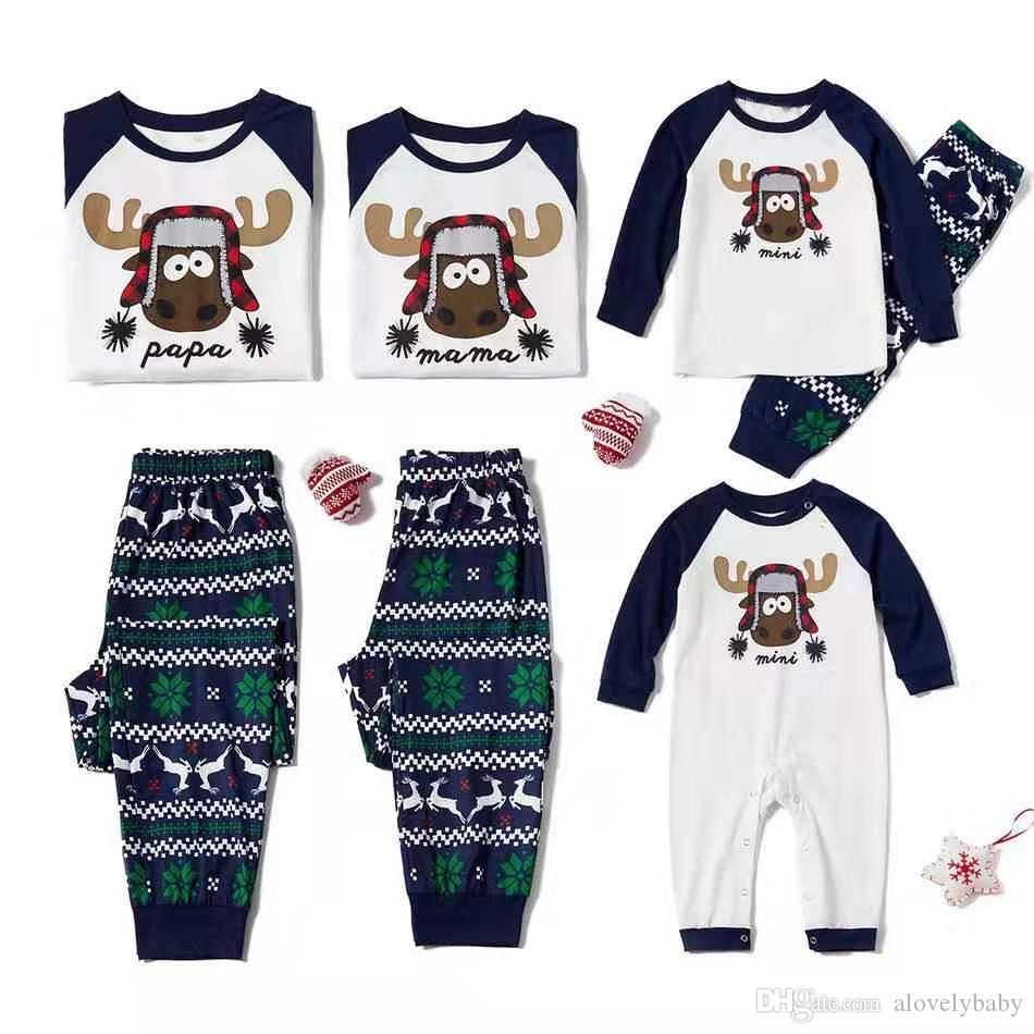 0-7T Boys Girls New Christmas pajamas XMAS Kids Family Matching Clothes Christmas Pajamas Family Set by xmas
