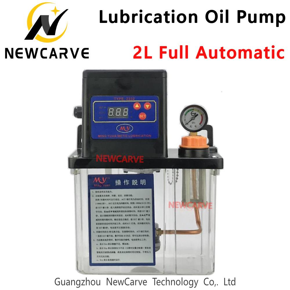 2L Digital elektronische Timer Zahnradpumpen CNC Vollautomatische Schmierung Ölpumpe 220 V für CNC-Maschine NEWCARVE