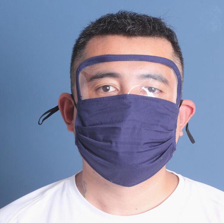 2 em 1 protetor Máscara Facial Máscaras Anti Poeira máscara completa Proteção Rosto Anti Fog óleo protetor