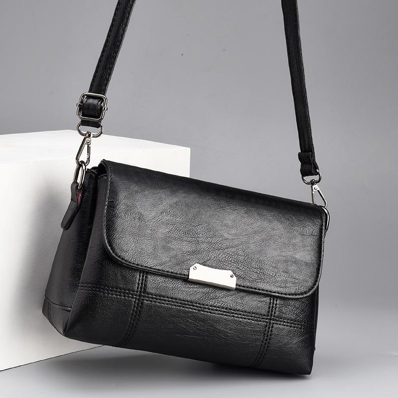 2019 رائج النساء بسيط حقائب الكتف واحدة للأنثى اسود عنابي CROSSBODY حقيبة سيدة لينة بو جودة الغلاف حقيبة FH309