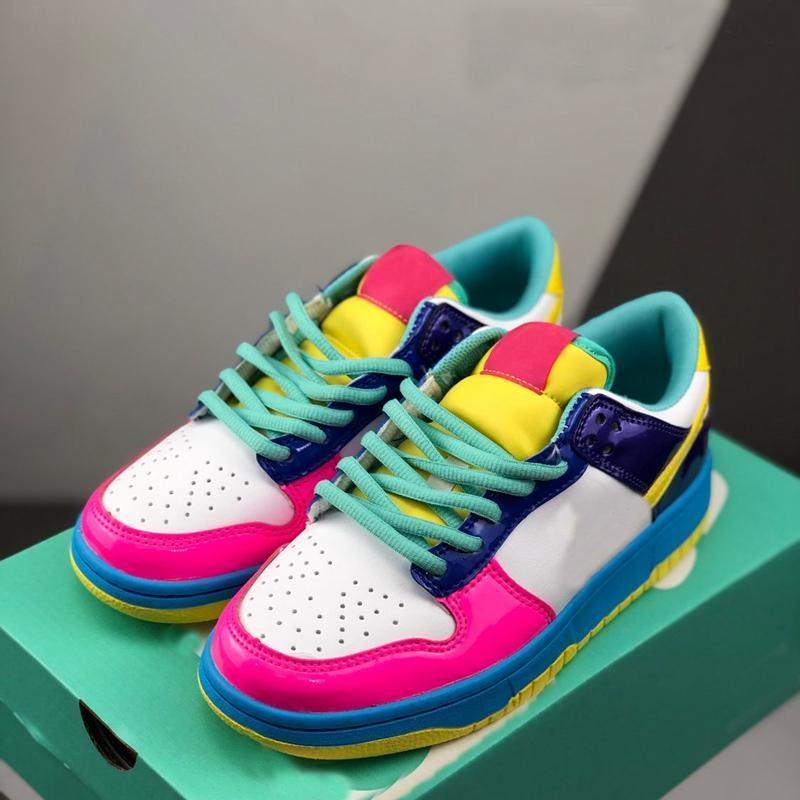2020 Diseñador SB Dunk Low para mujer de los zapatos corrientes de la mujer Rosa Azul entrenadores deportivos zapatillas de deporte de las muchachas des Chaussures blanco del monopatín verde schuhe