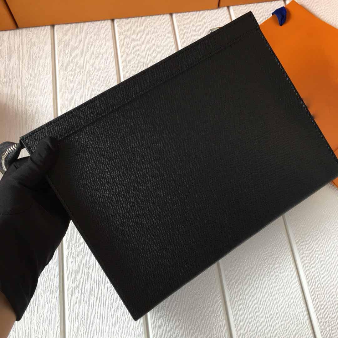 Beste Brand New Mens Clutch Bag Kulturbeutel Taschen Waschbeutel Make Up Box Echtes Leder Männer BagsBrand Handtaschen Reißverschlusstasche 27 CM M61692 N41696