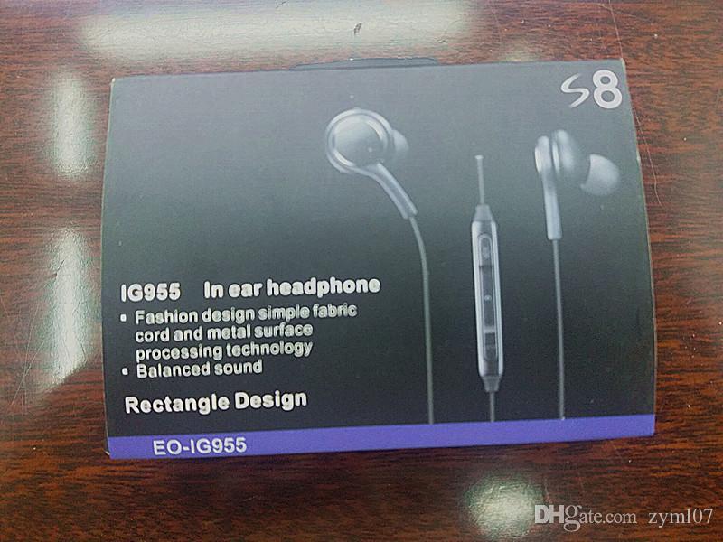 S8 fones de ouvido fone de ouvido para samsung galaxy s8 além de 3.5mm fone de ouvido genuíno preto fones de ouvido intra-auriculares eo-gg955bsegww baixo poder fones de ouvido fones de ouvido
